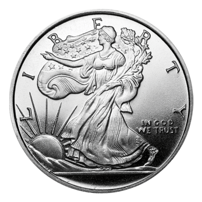 silver coin - Liberty
