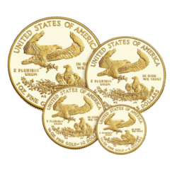 UNITED STATES MINT  GOLD AMERICAN EAGLE PROOF  4 COIN SET
