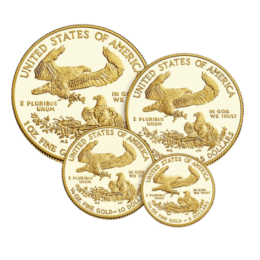 United States Mint Gold American Eagle Proof 4 Coin Set Back