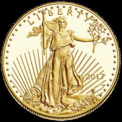 UNITED STATES MINT PROOF  GOLD AMERICAN EAGLE 1 OZ