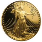 gold American eagle proof 1-oz. front