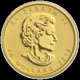 Gold polar bear pack coin.