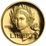 UNITED STATES MINT  GOLD US BU PROOF $5