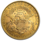 liberty gold double eagle front, gold coin.
