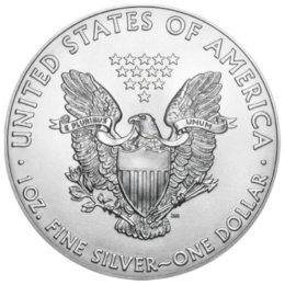 Silver coin - American Eagle Front