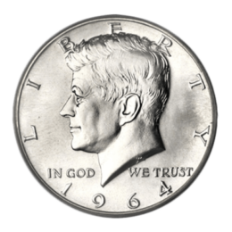 silver-kennedy-half-dollar-1964-circ-silver-front