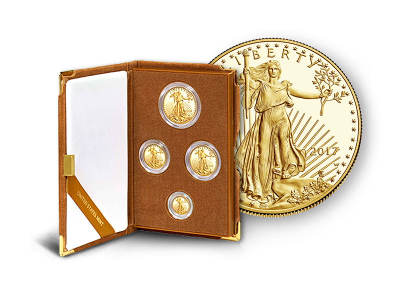 Gold and silver product - AMERICAN EAGLE GOLD PROOF FOUR-COIN SET