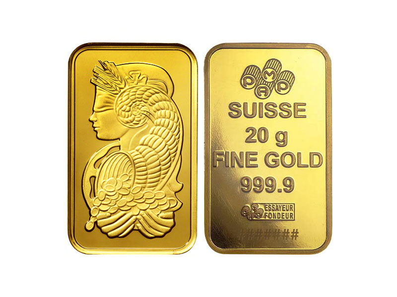 Gold and silver product - 999.9 PURE GOLD BARS