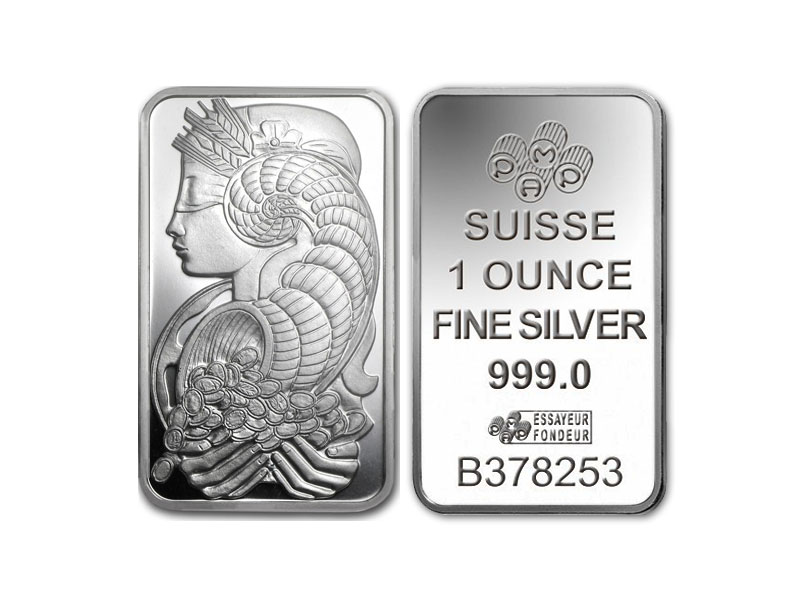 Gold and silver product - 1 OZ. SUISSE SILVER BAR