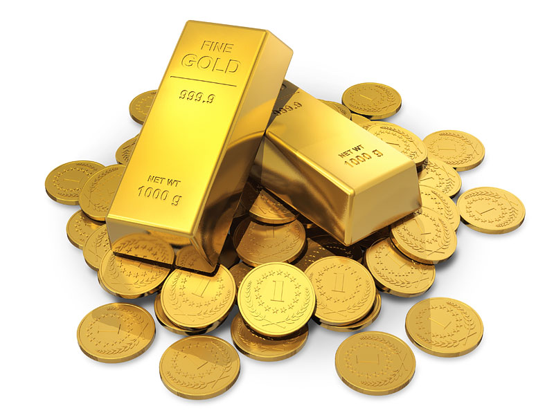 Precious metals - gold barrs and gold coins