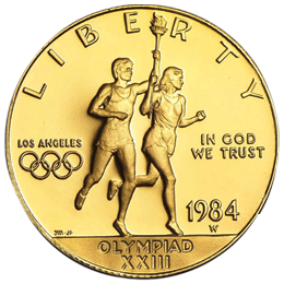 Gold coin - Olynpiad Los Angeles 1984