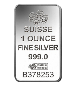 Silver Bars - Suisse 1 Ounce Back