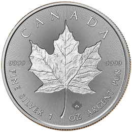 Silver coin - Royal Canadian Maple Leaf