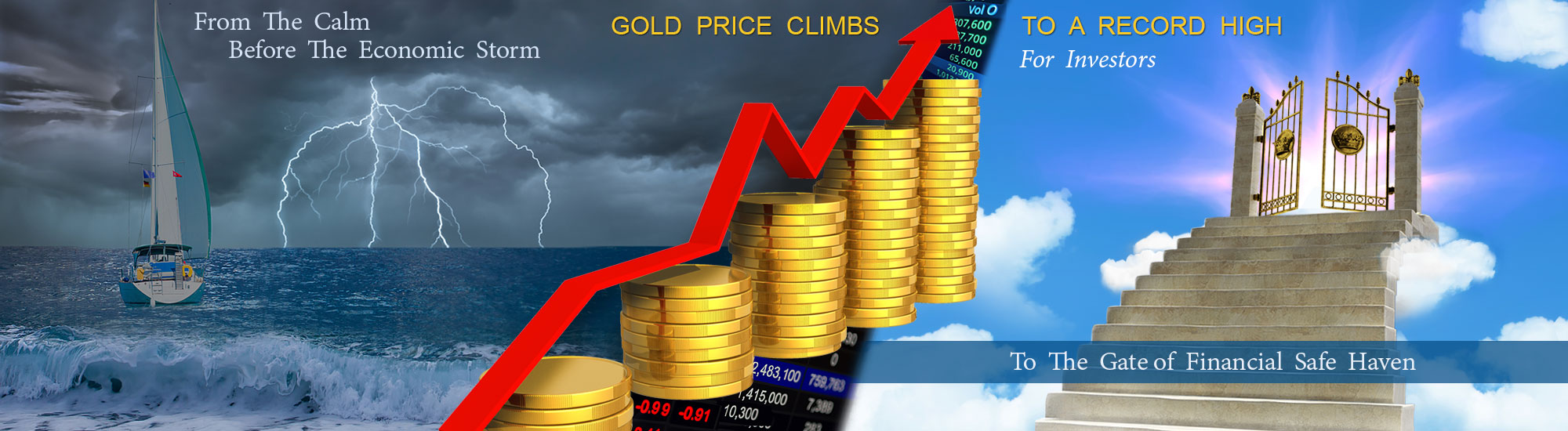 Gold price climbs high for investors