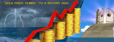 GOLD PRICE CLIMBS TO RECORD HIGH!