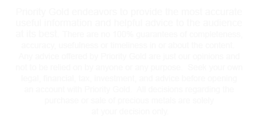 Precious metals investment - gold, silver, platinum and palladium from priority gold