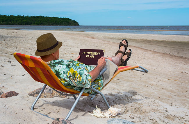Secure retirement and relax on vacation